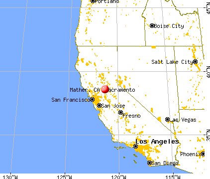 Mather, California map