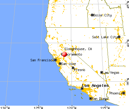 Sloughhouse, California map