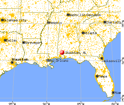 Stockton, Alabama map