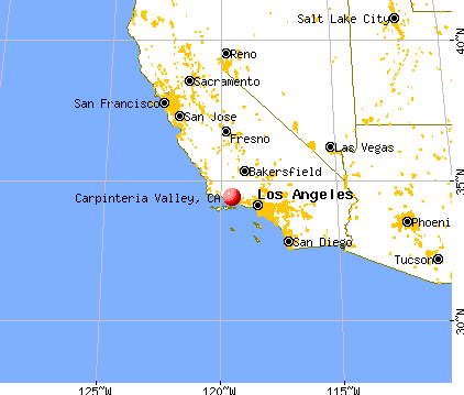 Carpinteria Valley, California map