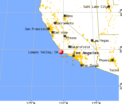 Lompoc Valley, California map