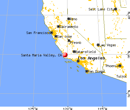 Santa Maria Valley, California map