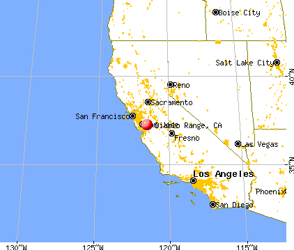 Diablo Range California CA 95037 profile population maps real