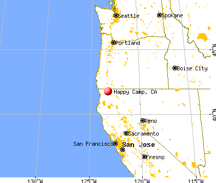 Happy Camp, California map