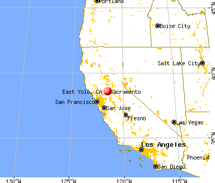 East Yolo, California map