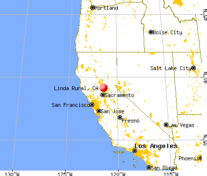 Linda Rural, California map