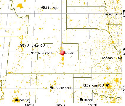 North Aurora, Colorado map