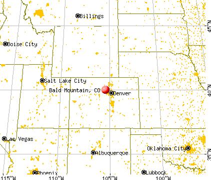 Bald Mountain, Colorado map