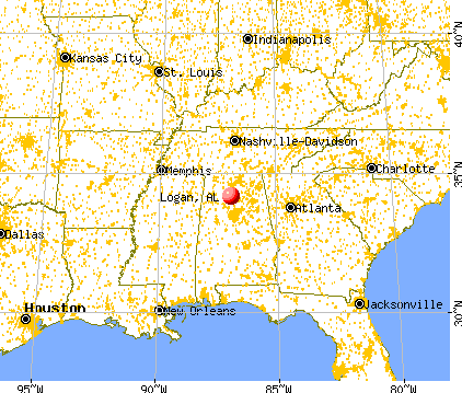 Logan, Alabama map