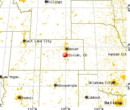 Divide, Colorado map