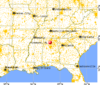 Vinemont, Alabama map