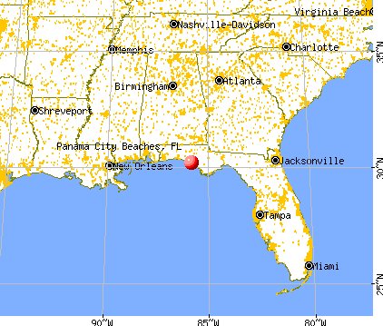 Panama City Beach Florida Map.Panama City Beaches Florida Fl 32407 Profile Population Maps