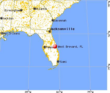 Brevard County Florida Map.West Brevard Florida Fl 32904 Profile Population Maps Real