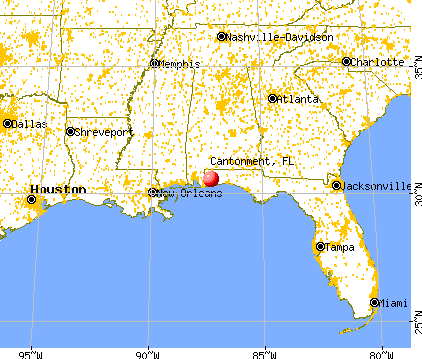 Cantonment, Florida map