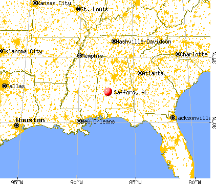 Safford, Alabama map