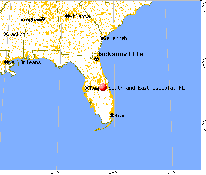 South and East Osceola, Florida map