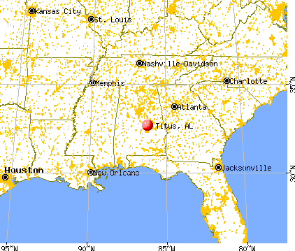 Titus, Alabama map