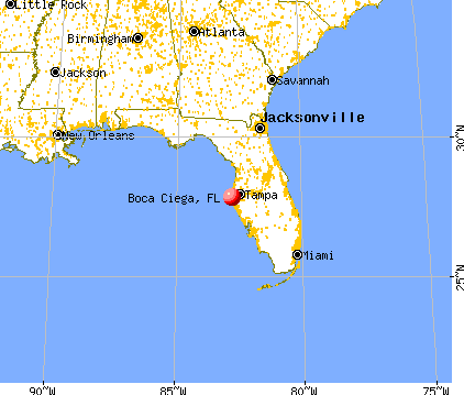 Boca Ciega, Florida map