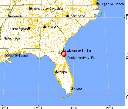 Ponte Vedra, Florida map