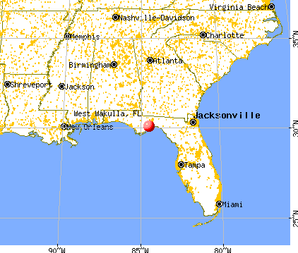 West Wakulla, Florida map