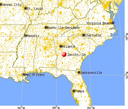 Zenith, Georgia map