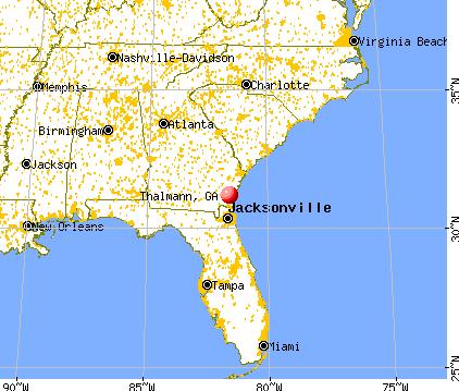 Thalmann, Georgia map