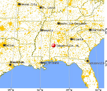 Sawyerville, Alabama map