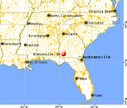Branchville, Georgia map