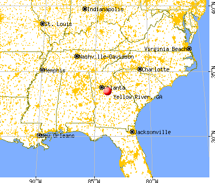 Yellow River Georgia GA Profile Population Maps Real - Georgia on usa map