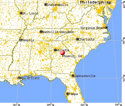 Phoenix, Georgia map