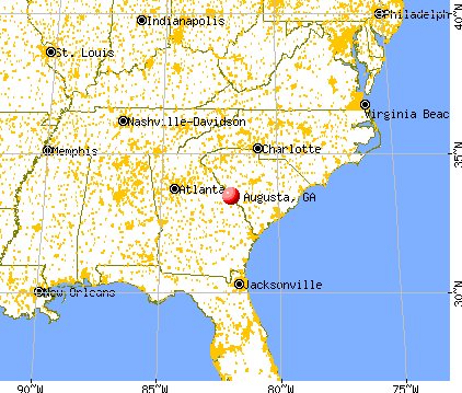 Augusta, Georgia (GA 30904) profile: population, maps, real estate