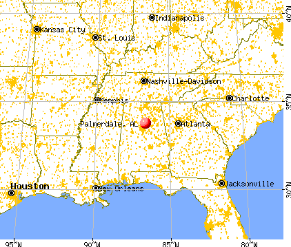 Palmerdale, Alabama map