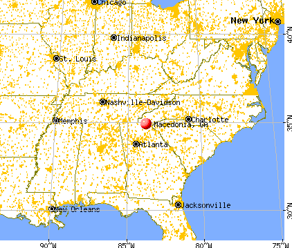 Mineral Bluff GA Map