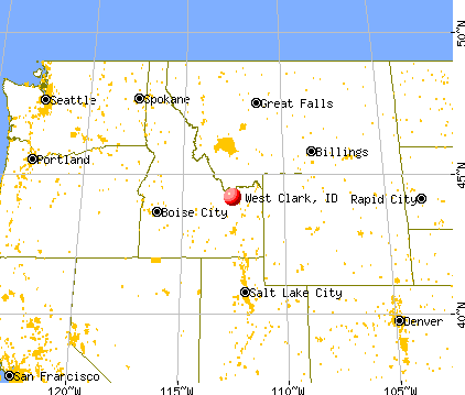 West Clark, Idaho map