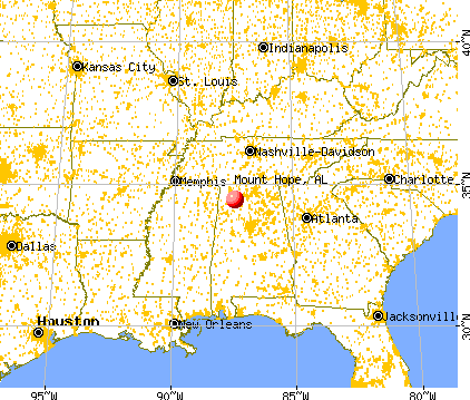 Mount Hope, Alabama map
