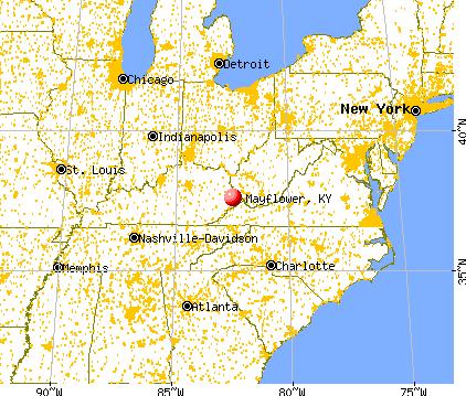 Mayflower, Kentucky map