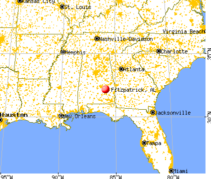 Fitzpatrick, Alabama map