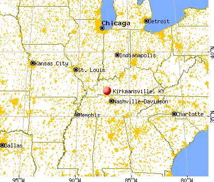 Kirkmansville, Kentucky map