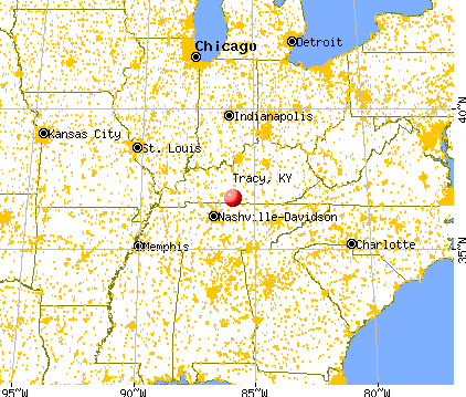 Tracy, Kentucky map