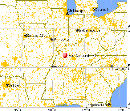 New Concord Kentucky Ky 42076 Profile Population Maps