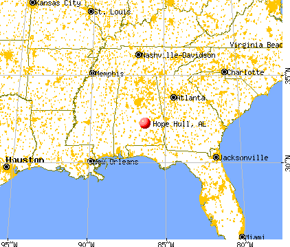 Hope Hull, Alabama map