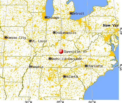 Dunnville, Kentucky map