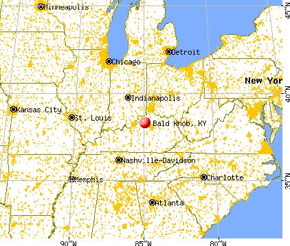 Bald Knob, Kentucky map