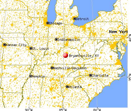 Bryantsville, Kentucky map