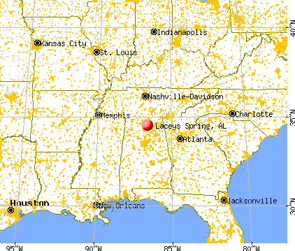 Laceys Spring, Alabama map