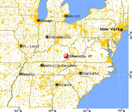 Emmalena, Kentucky map