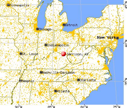 Garrison, Kentucky map