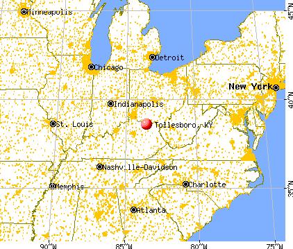 Tollesboro, Kentucky map