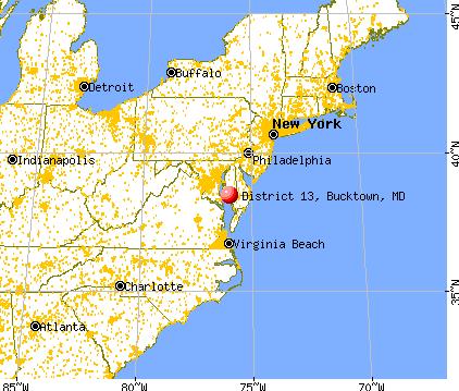 District 13 Bucktown Maryland MD 21613 profile population