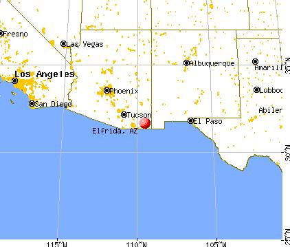 Elfrida Arizona AZ  Profile Population Maps Real Estate - Where was geronimo on a us map